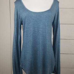 {Sweet Claire} M Indigo Long Sleeve Top